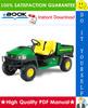 Thumbnail ☆☆ Best ☆☆ John Deere Gator Utility Vehicles 4x2 and 4x6 Technical Manual