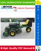 Thumbnail ☆☆ Best ☆☆ John Deere 2653 Professional Utility Mower Technical Manual