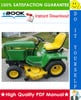 Thumbnail ☆☆ Best ☆☆ John Deere 316, 318, 420 Lawn and Garden Tractors Technical Manual