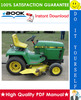 Thumbnail ☆☆ Best ☆☆ John Deere 322, 330, 332, 430 Lawn and Garden Tractors Technical Manual