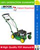 Thumbnail ☆☆ Best ☆☆ John Deere JA60, JA62, JA65, JE75, JX75, JX85 21-Inch Walk-Behind Mower (Cast Deck) Technical Manual