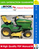 Thumbnail ☆☆ Best ☆☆ John Deere 325, 335, 345 Lawn & Garden Tractors Technical Manual