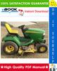 Thumbnail ☆☆ Best ☆☆ John Deere X495, X595 Garden Tractors Technical Manual