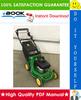 Thumbnail ☆ High-Quality ☆ John Deere JX75, JA62 Walk-Behind Rotary Mowers Technical Manual