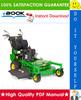 Thumbnail ☆ High-Quality ☆ John Deere 7G18 Commercial Walk-Behind Mower Technical Manual