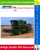 Thumbnail ☆☆ Best ☆☆ John Deere 1166, 1169H, 1174, 1177, 1177 Hydro/4, 1188, 1188 Hydro/4 Combines Technical Manual