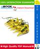 Thumbnail ☆☆ Best ☆☆ John Deere 686, 688 Rotary Harvesting Units Technical Manual