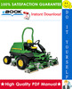 Thumbnail ☆☆ Best ☆☆ John Deere 7500, 7700, 8500, 8700, 8800, 7500E-Cut Hybrid, 8500E-Cut Hybrid Lightweight Fairway Mower Technical Manual