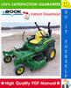 Thumbnail ☆☆ Best ☆☆ John Deere Z710A, Z720A Mid-Frame ZTrak Mower Technical Manual