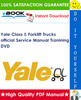 Thumbnail Yale Class 5 Forklift official Service Manual Tranining (3.32GB DVD IMAGE!)
