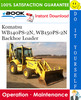 Thumbnail ☆☆ Best ☆☆ Komatsu WB140PS-2N, WB150PS-2N Backhoe Loader Operation & Maintenance Manual  (Serial Number: A40001 and up, A70001 and up)