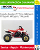 Thumbnail ☆☆ Best ☆☆ Yamaha Banshee YFZ350 (YFZ350J, YFZ350K, YFZ350A, YFZ350B) ATV Service Repair Manual