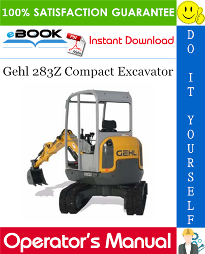 Thumbnail ☆☆ Best ☆☆ Gehl 283Z Compact Excavator Operators Manual