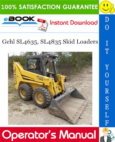 Thumbnail ☆☆ Best ☆☆ Gehl SL4635, SL4835 Skid Loaders Operators Manual