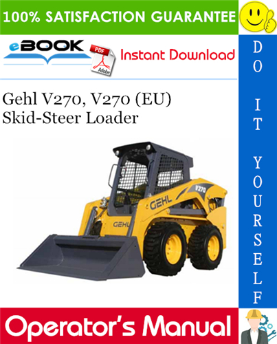 Thumbnail Gehl V270, V270 (EU) Skid-Steer Loader Operator's Manual