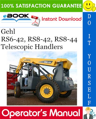 Thumbnail ☆☆ Best ☆☆ Gehl RS6-42, RS8-42, RS8-44 Telescopic Handlers Operators Manual #1