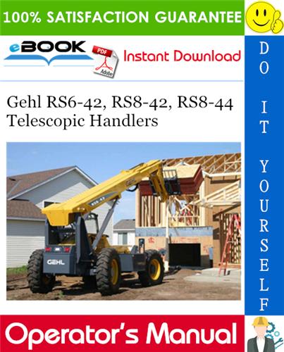 Thumbnail ☆☆ Best ☆☆ Gehl RS6-42, RS8-42, RS8-44 Telescopic Handlers Operators Manual #2