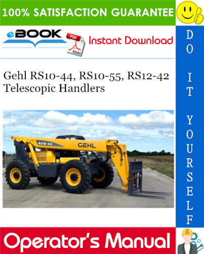 Thumbnail ☆☆ Best ☆☆ Gehl RS10-44, RS10-55, RS12-42 Telescopic Handlers Operators Manual
