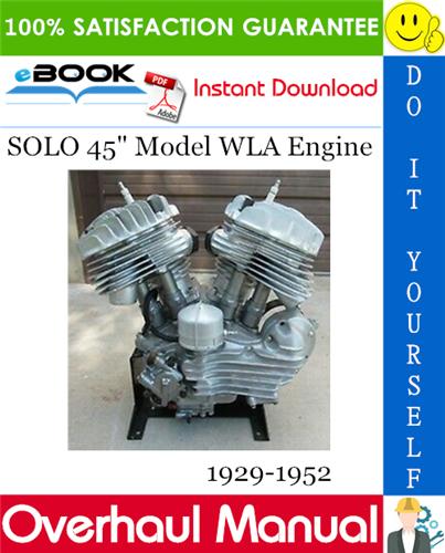 Thumbnail ☆☆ Best ☆☆ SOLO 45 Model WLA Engine Overhaul Manual 1929-1952 Download