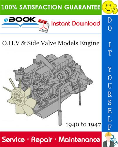 Thumbnail ☆☆ Best ☆☆ O.H.V & Side Valve Models Engine Service Repair Manual 1940 to 1947 Download