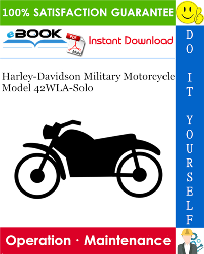 Thumbnail ☆☆ Best ☆☆ Harley-Davidson Military Motorcycle Model 42WLA-Solo Operation & Maintenance Manual