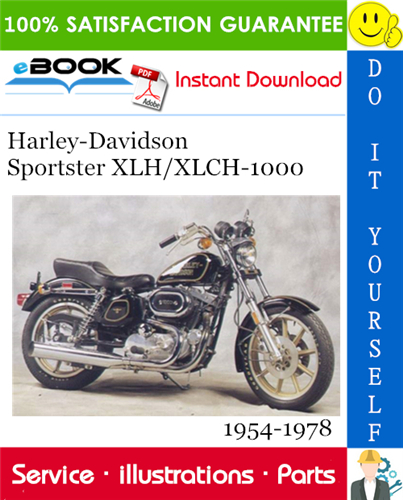 Thumbnail ☆☆ Best ☆☆ Harley-Davidson Sportster XLH/XLCH-1000 Parts Catalog 1954-1978 Download