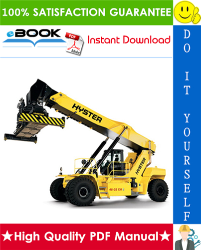 Thumbnail ☆☆ Best ☆☆ Hyster R45-27IH, RS45-30CH, RS46-30IH, RS46-33CH, RS46-33IH, RS46-36CH (A222) Reach Stacker Service Repair Manual