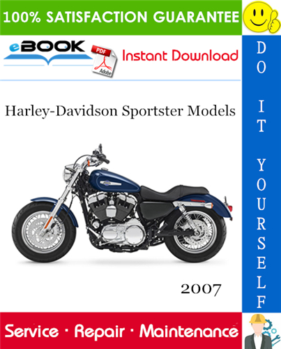 Thumbnail ☆☆ Best ☆☆ 2007 Harley-Davidson Sportster Models (XL883, XL883L, XL883R, XL1200L, XL1200R, XL883C, XL1200C, XL50) Motorcycle Service Repair Manual