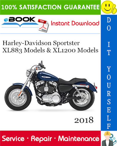 Thumbnail ☆☆ Best ☆☆ 2018 Harley-Davidson Sportster XL883 Models (XL883L, XL883N) & XL1200 Models (XL1200C, XL1200CX, XL1200T, XL1200X, XL1200NS, XL1200XS) Motorcycle Service Repair
