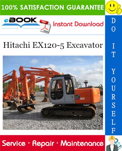 Thumbnail ☆☆ Best ☆☆ Hitachi EX120-5 Excavator Service Repair Manual + Circuit Diagram & Harness