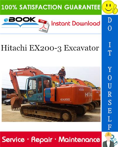 Thumbnail ☆☆ Best ☆☆ Hitachi EX200-3 Excavator Service Repair Manual + Circuit Diagram
