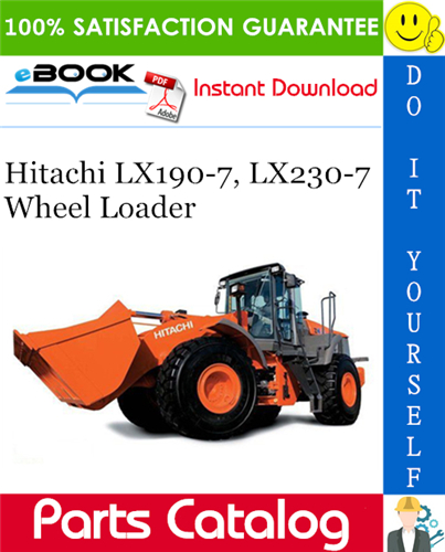 Thumbnail ☆☆ Best ☆☆ Hitachi LX190-7, LX230-7 Wheel Loader Parts Catalog