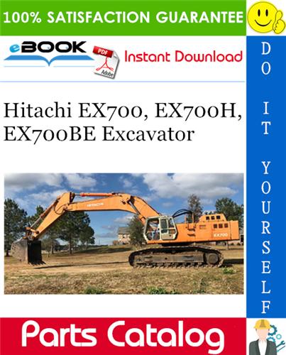 Thumbnail ☆☆ Best ☆☆ Hitachi EX700, EX700H, EX700BE Excavator Parts Catalog