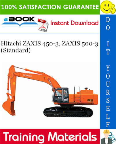 Thumbnail ☆☆ Best ☆☆ Hitachi ZAXIS 450-3, ZAXIS 500-3 (Standard) Training Materials