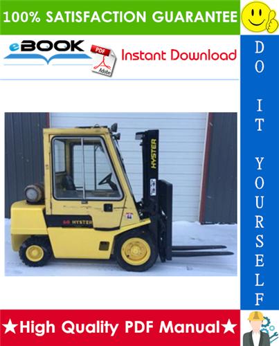 Thumbnail ☆☆ Best ☆☆ Hyster H2.00XL (H40XL), H2.50XL (H50XL), H3.00 (H60XL) [B177] Forklift Trucks Service Repair Manual