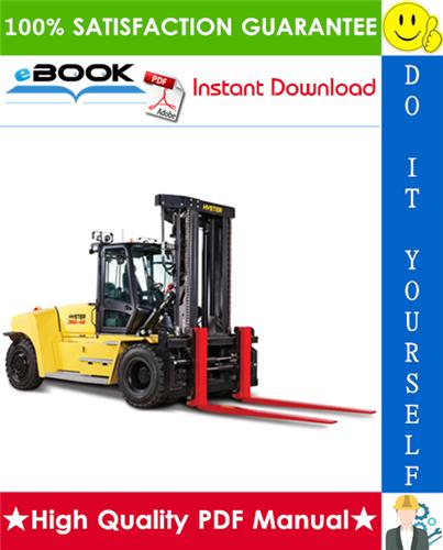 Thumbnail ☆☆ Best ☆☆ Hyster H360-36HD, H360-48HD (B238) High-Capacity Forklift Trucks Service Repair Manual