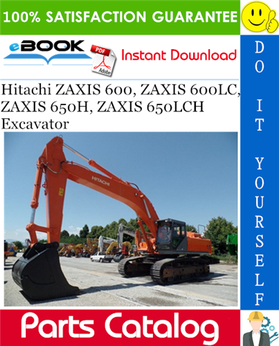 Thumbnail ☆☆ Best ☆☆ Hitachi ZAXIS 600, ZAXIS 600LC, ZAXIS 650H, ZAXIS 650LCH Excavator Parts Catalog Manual