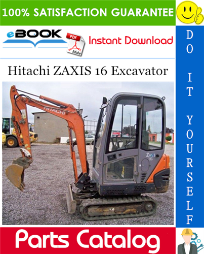 Thumbnail ☆☆ Best ☆☆ Hitachi ZAXIS 16 Excavator Parts Catalog Manual