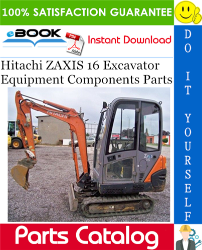 Thumbnail ☆☆ Best ☆☆ Hitachi ZAXIS 16 Excavator Equipment Components Parts Catalog Manual