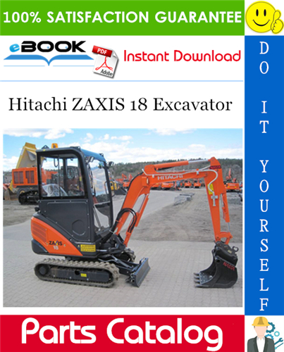 Thumbnail ☆☆ Best ☆☆ Hitachi ZAXIS 18 Excavator Parts Catalog Manual
