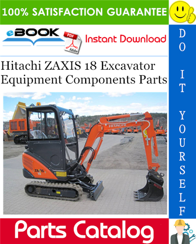 Thumbnail ☆☆ Best ☆☆ Hitachi ZAXIS 18 Excavator Equipment Components Parts Catalog Manual