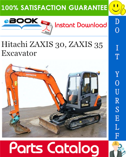 Thumbnail ☆☆ Best ☆☆ Hitachi ZAXIS 30, ZAXIS 35 Excavator Parts Catalog Manual