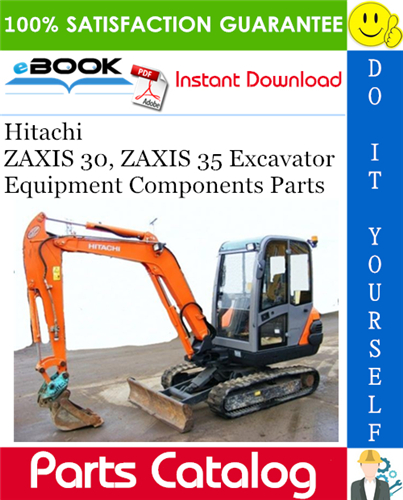 Thumbnail ☆☆ Best ☆☆ Hitachi ZAXIS 30, ZAXIS 35 Excavator Equipment Components Parts Catalog Manual