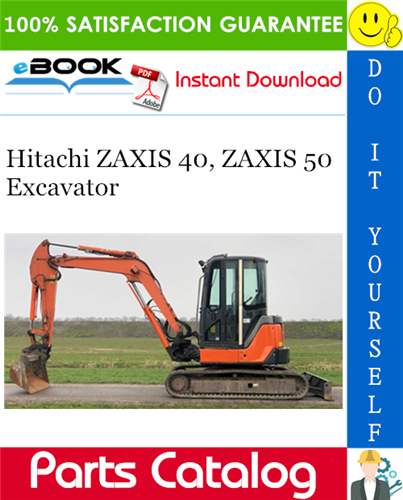 Thumbnail ☆☆ Best ☆☆ Hitachi ZAXIS 40, ZAXIS 50 Excavator Parts Catalog Manual