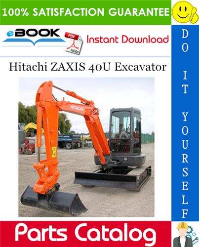 Thumbnail ☆☆ Best ☆☆ Hitachi ZAXIS 40U Excavator Parts Catalog Manual