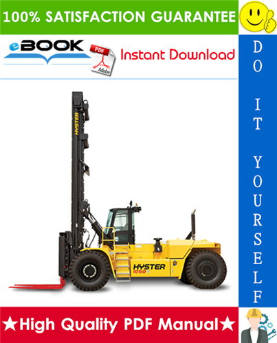 Thumbnail ☆☆ Best ☆☆ Hyster H36.00C (H800C), H40.00C (H880C), H44.00C (H970C), H48.00CH (H1050CH) [C117] Forklift Trucks Service Repair Manual