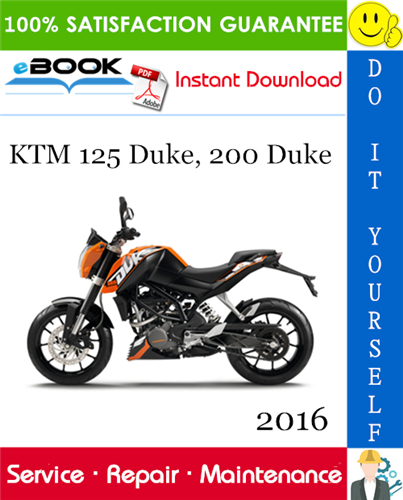 Thumbnail ☆☆ Best ☆☆ 2016 KTM 125 Duke, 200 Duke Motorcycle Service Repair Manual
