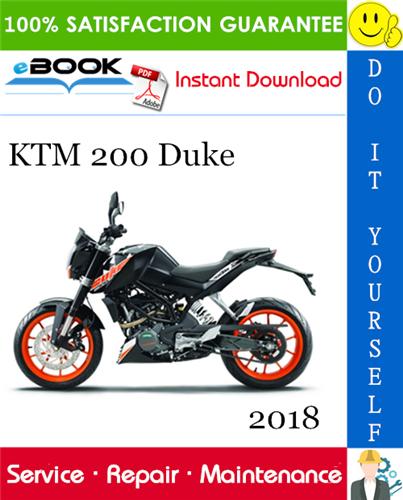 Thumbnail ☆☆ Best ☆☆ 2018 KTM 200 Duke Motorcycle Service Repair Manual