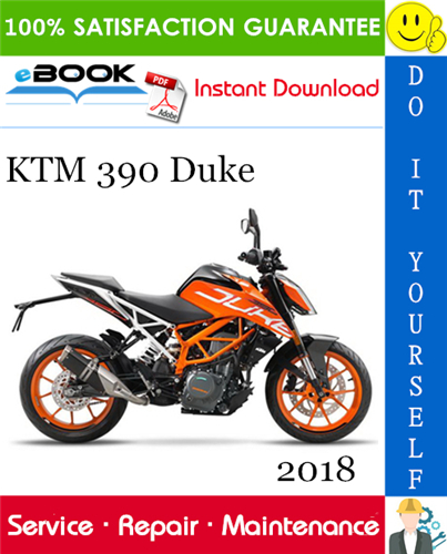 Thumbnail ☆☆ Best ☆☆ 2018 KTM 390 Duke Motorcycle Service Repair Manual