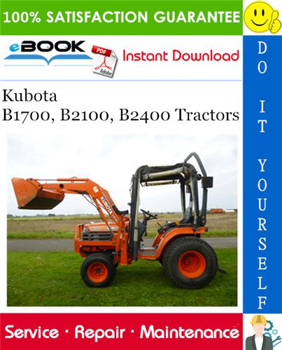 Thumbnail ☆☆ Best ☆☆ Kubota B1700, B2100, B2400 Tractors Service Repair Manual